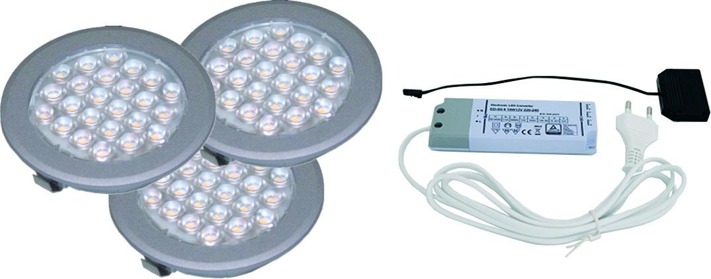 Jeu de 3 lampes encastrables/applique LED L&S Sunny II 12 V