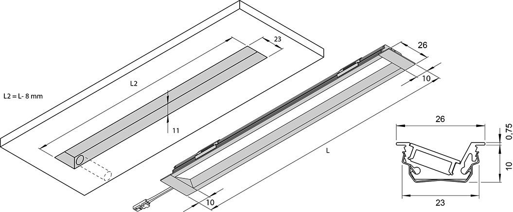 LED Einbauleuchten L&S Emotion Venice Mini 12 V