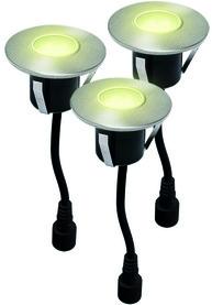 Jeu des lampes LED encastrables pour terrasses EASY CONNECT 3 pièces