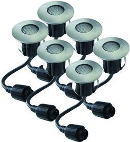 Jeu des lampes LED encastrables pour terrasses EASY CONNECT 6 pièces