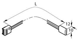 Cavo di alimentazione verso il trasformatore RGB Strip Flex 24 V