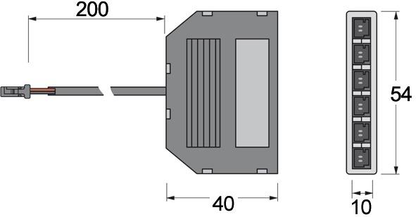 Verteiler 6 fach L&S 24 V