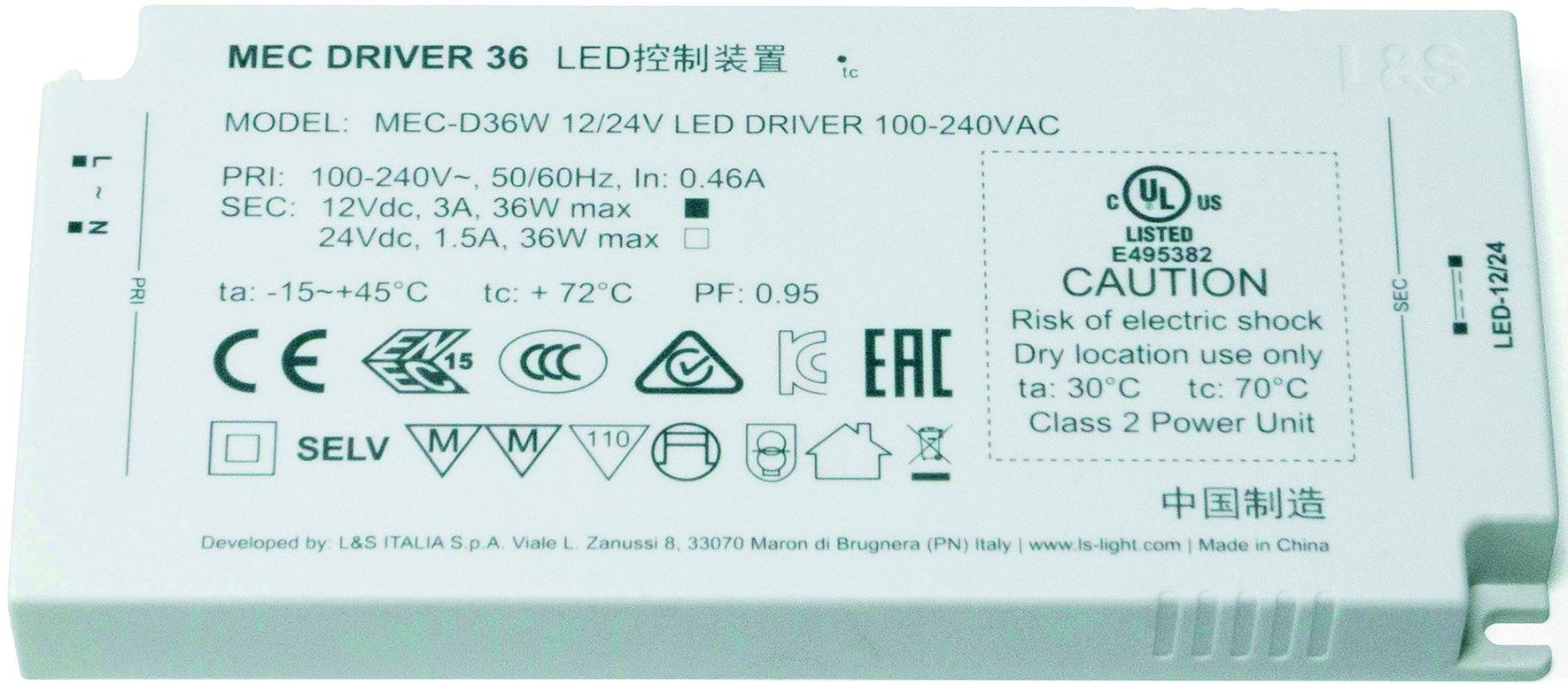 Meccano Driver L&S All in One 12 / 24 V, 18-90 W
