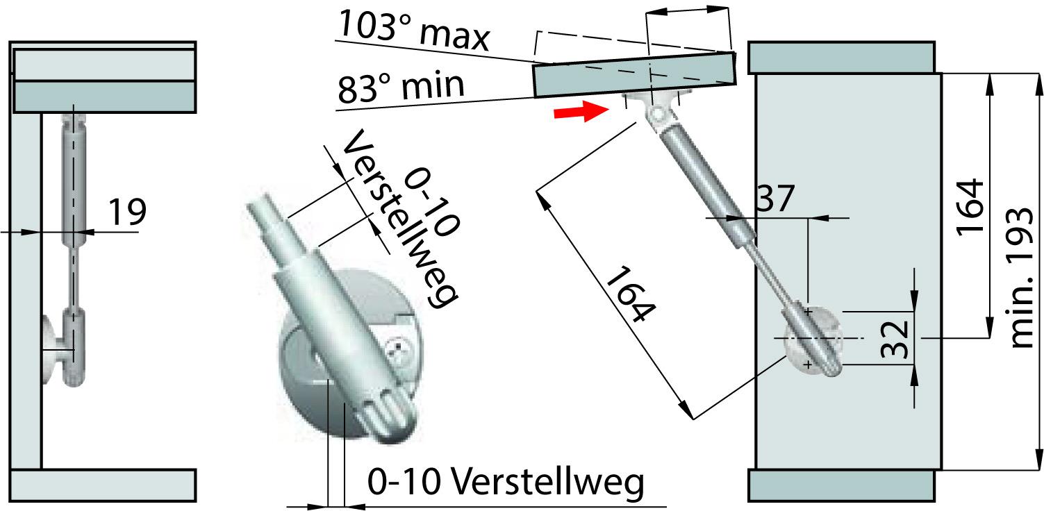 Bracci telescopici a molla KLB