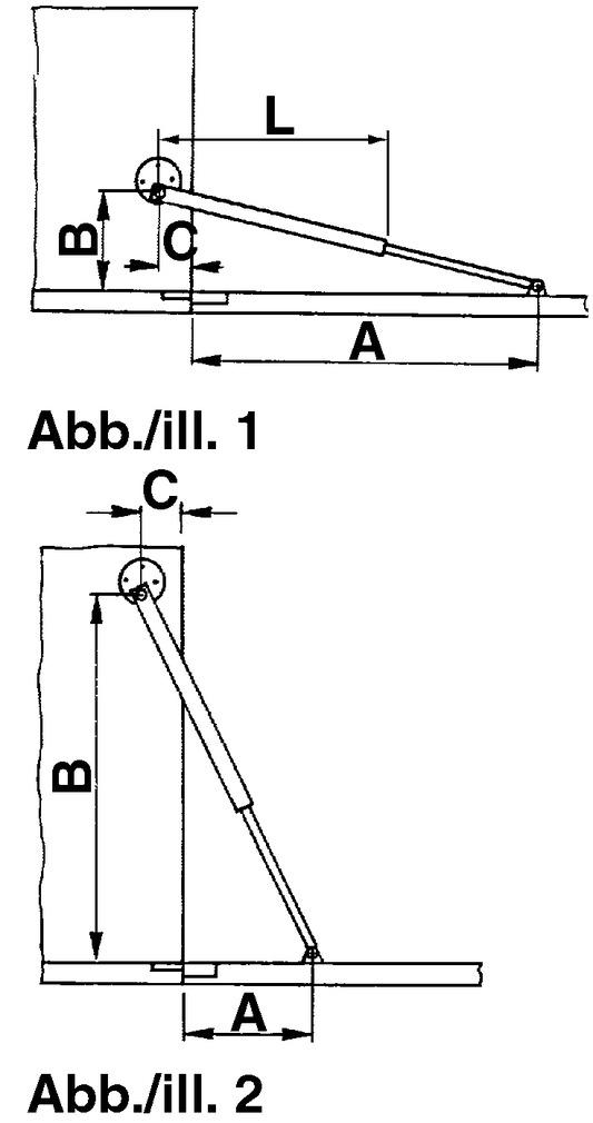 Compas pour abattants avec frein