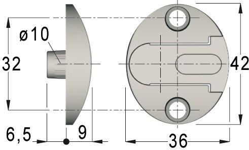 Pièce de fixation KLB/BKB-079