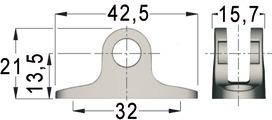 Pièce de fixation KLB/BKB-075