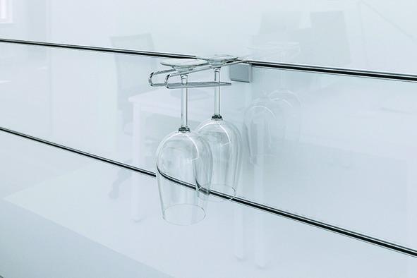 Braccio di sospensione per occhiali sistema Wall