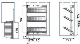 Portascarpe laterale in filo di ferro VIBO