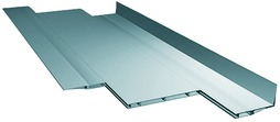 Aluminiumtablare – Endprofil mit Winkel zum Regalsystem LOGO