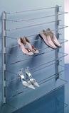 Rails muraux pour support de chaussures