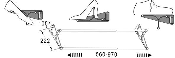Supports pour souliers SERVETTO-TAC