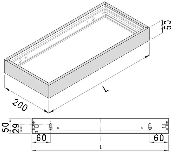 Tablettes lumineuses LED L&S Denver Snite 230 V