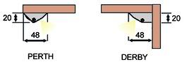 Terminali per profili PERTH/DERBY