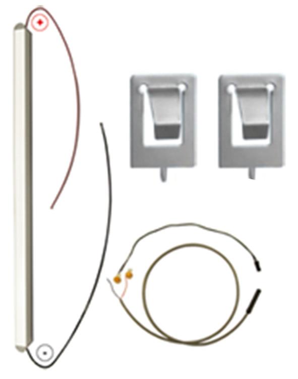 LED-Einbauleuchten-Ergänzungsset LUX GOOD für Drehtüren 12 V