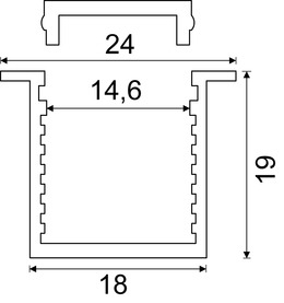 Einbauprofile PRAG 24/1.5 mm mit Lichtblende