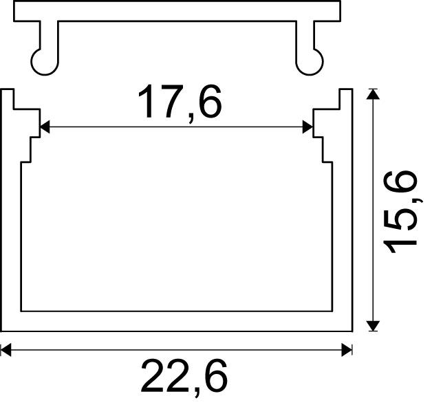 LED Ein-/Anbauprofile ROM mit Lichtblende
