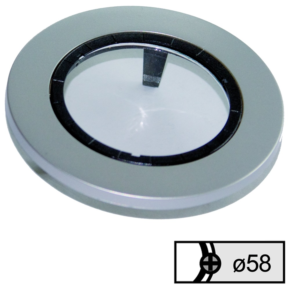 Anneaux de recouvrement L&S hauteur 5.3 mm avec verre mat