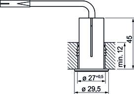 Interrupteur à contact Mini 230 V
