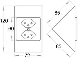 Prise triangulaire 230 V