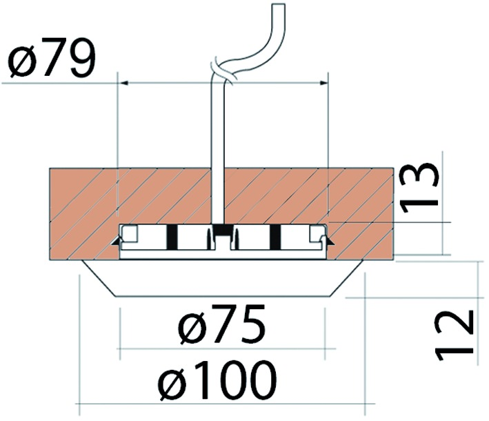 Boîtier de lampes encastrables sans ampoule 230 V
