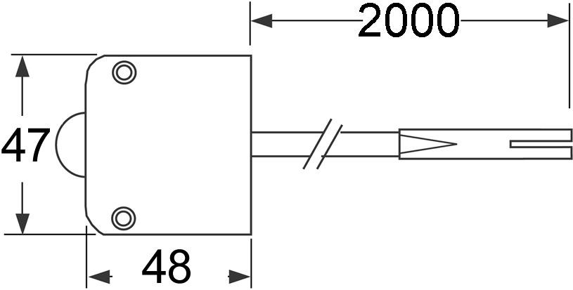 Contacteur de porte en applique L&S 230 V Tyco