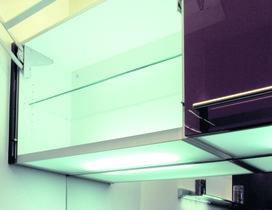 Ripiani luminosi per montaggio allo scaffale di pavimento 230 V