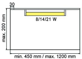 Licht-Wandtablare 230 V