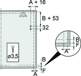 Compas pour abattant HETTICH Lift Basic