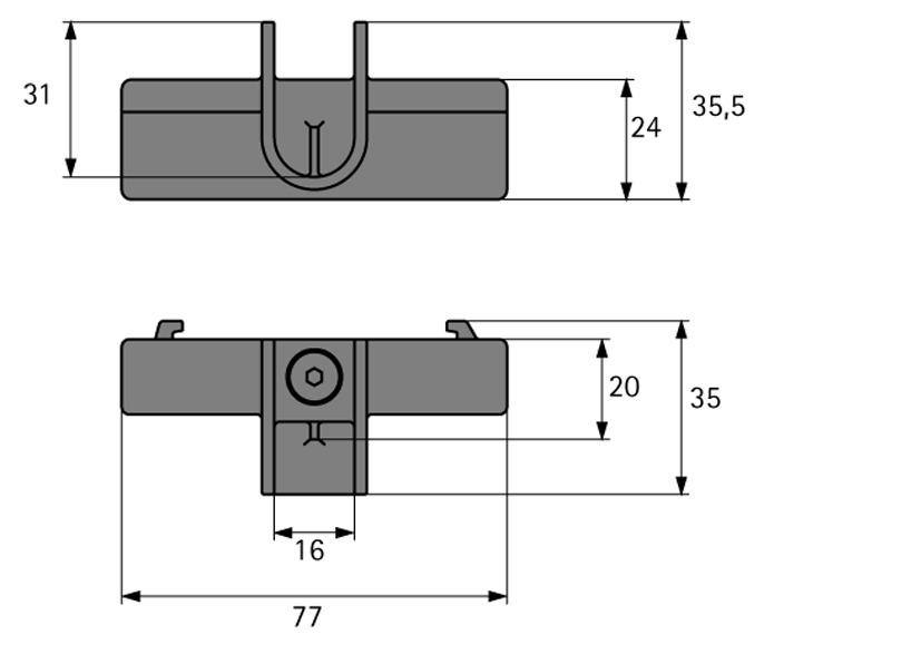 Schrankrohrlager Typ B Amari 200