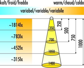 Lampes encastrables LED L&S Emotion Manila Plus IV, fabriqué sur mesure avec embouts, alimentation àgauche 24 V