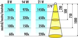 Tablettes lumineuses 230 V pour le montage de meubles de sol dans des cuisines