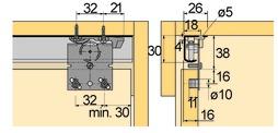 Ferramenta per ante scorrevoli Top Line 25/27, Inslide/Mixslide
