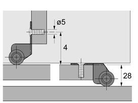 Roulette de distance STB-0 acier nickelé