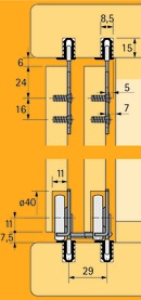 Schiebetürbeschläge HETTICH Slide Line 56, Inslide