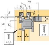 Ferramenta per ante scorrevoli HETTICH Top Line 110, Inslide/Mixslide