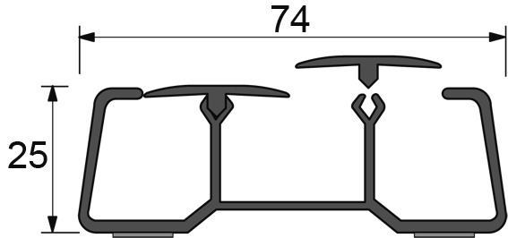 Kabelkanal zum Ankleben