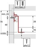 Schubkastenset Teilauszug HETTICH MultiTech, Zargenhöhe 54 mm