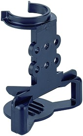 Halterung für Sockelverstellfuss Korrekt und Rollschubführungen Kunststoff schwarz