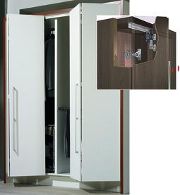 Garniture complète ferrements pour portes pliantes-coulissantes HETTICH Wing Line 77, Forslide