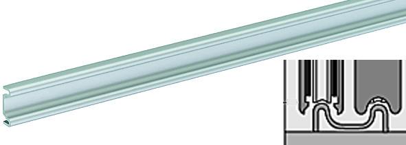 Double rail de coulissage SUPRA, inférieur