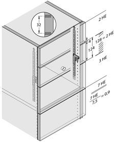 Sistema di chiusura HETTICH Stop Control per classificatori cartelle sospese per pareti attrezzate Systema Top 2000