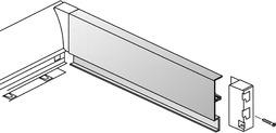 Aluminiumrückwand