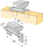 Turbo-Clip Sockelblendenhalter