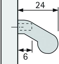 Maniglie per profili telai in alluminio