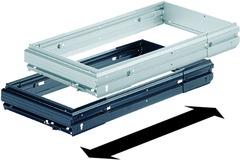 Stufenlos breitenverstellbare Hängeregistratur-Rahmen für Schrankwände