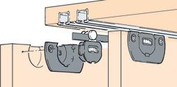 Ferrements pour portes coulissantes EKU-CLIPO 15 H, Inslide