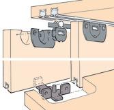 Ferrements pour portes coulissantes EKU-CLIPO 15 H, Mixslide