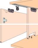Ferrements pour portes coulissantes EKU-CLIPO 16 H, Inslide