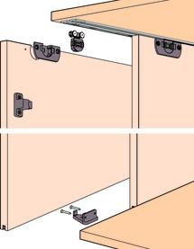 Ferrements pour portes coulissantes EKU-CLIPO 16 H, Mixslide
